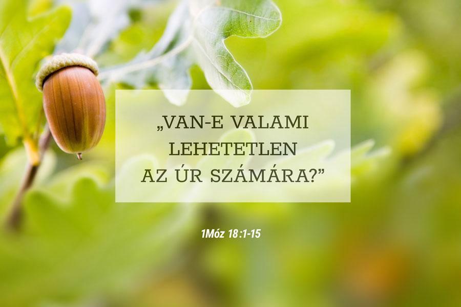 Heizer Tamás – I Mózes 18:1-15
